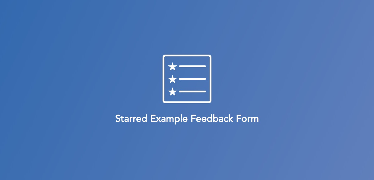 Example Feedback Form: Event Evaluation — Starred